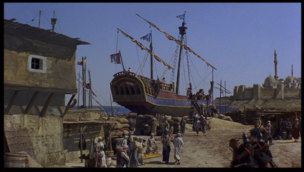 El barco de El viaje fantástico de Simbad en los Estudios Verona
