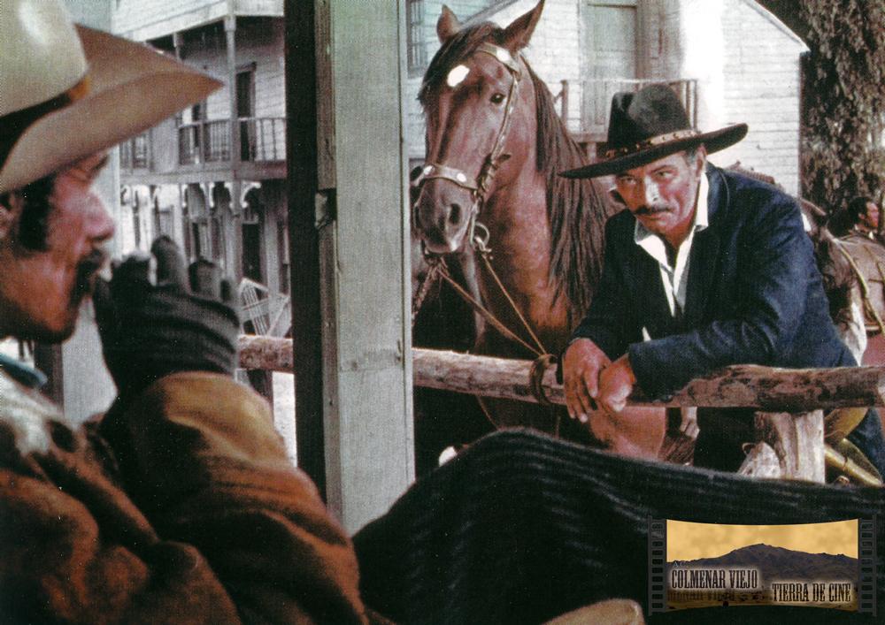 Lee Van Clef en El halcón y la presa. Decorado city del oeste en la Dehesa de Navalvillar de Colmenar Viejo.