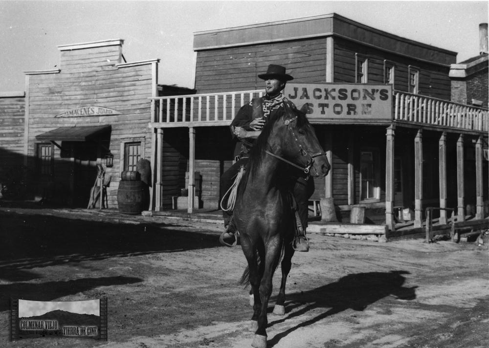 Clint Eastwood en el decorado city del oeste de la Dehesa de Navalvillar de Colmenar Viejo