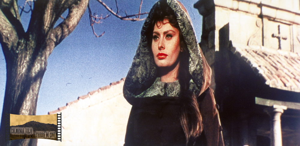 Sofía Loren en una escena de El Cid en la Ermita de Nuestra Señora de los Remedios de Colmenar Viejo